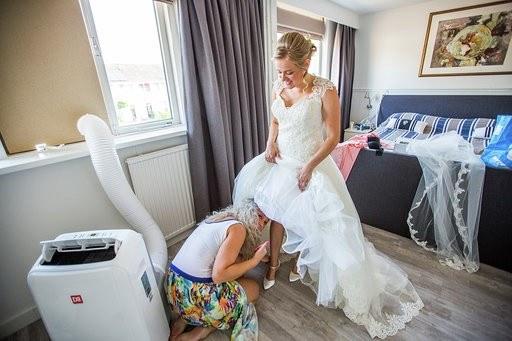 Bruidsstyling aan huis